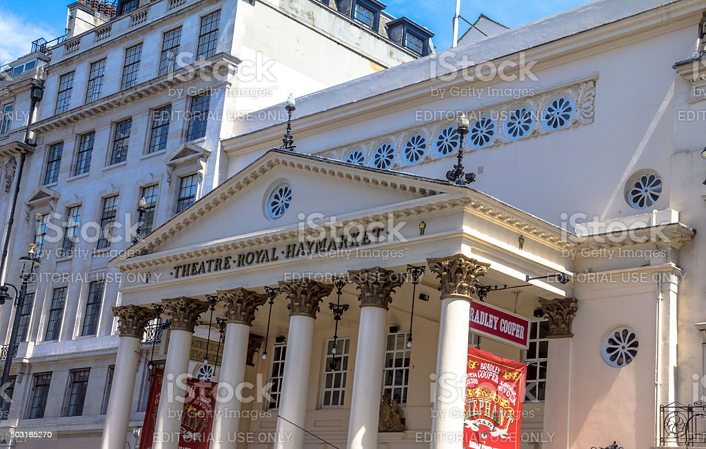 Haymarket Royal Theater - one of oldest Playhouse in  London stock photo