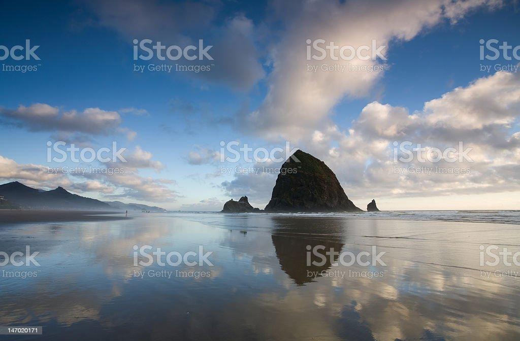 Haystack Rock Cannon Beach Oregon stock photo