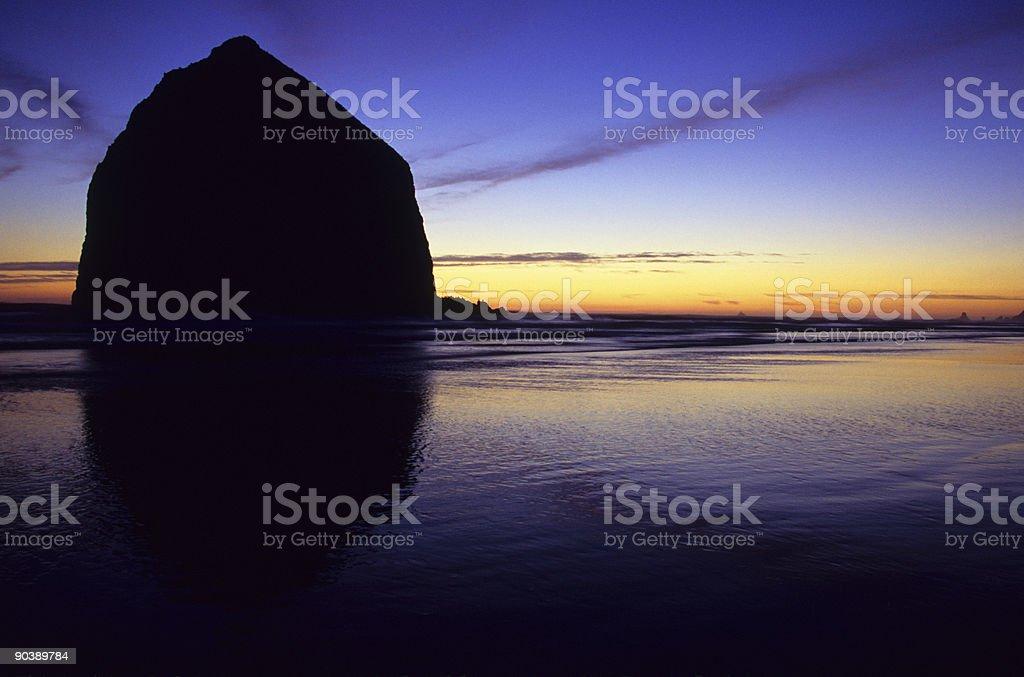 Haystack Rock, Cannon Beach, Oregon royalty-free stock photo