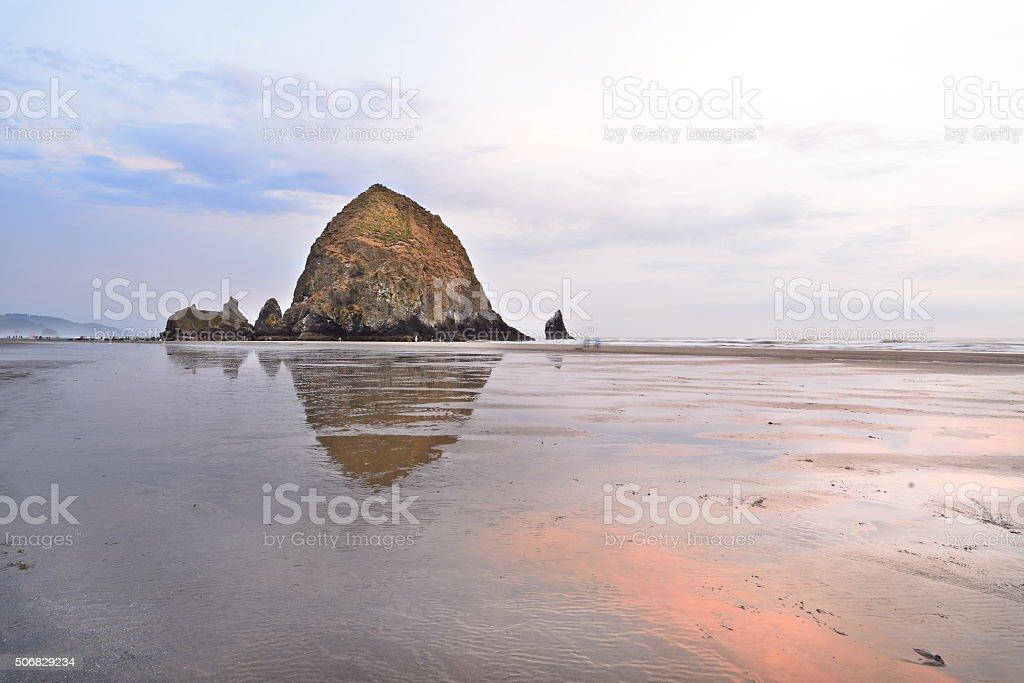 Haystack Rock, Oregon stock photo