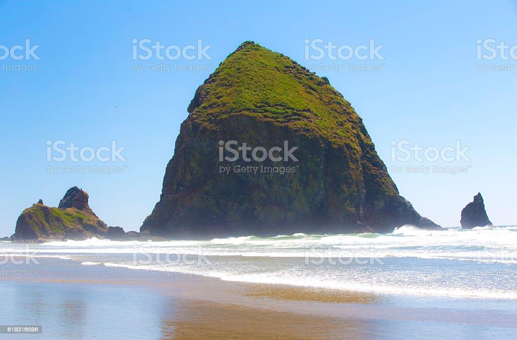 Haystack Rock stock photo