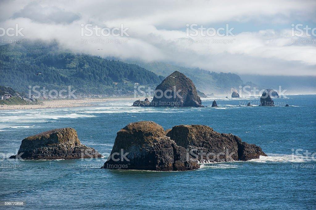 Haystack Rocks stock photo
