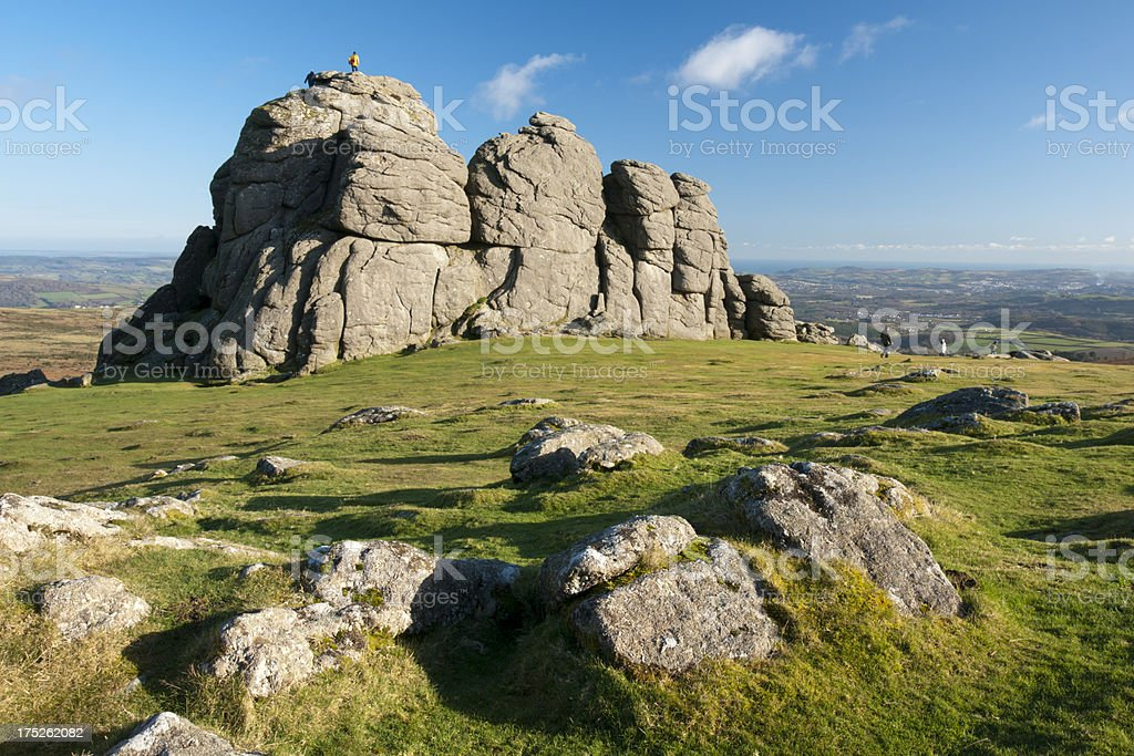 Haytor a populat tourist spot on Dartmoor in Devon stock photo
