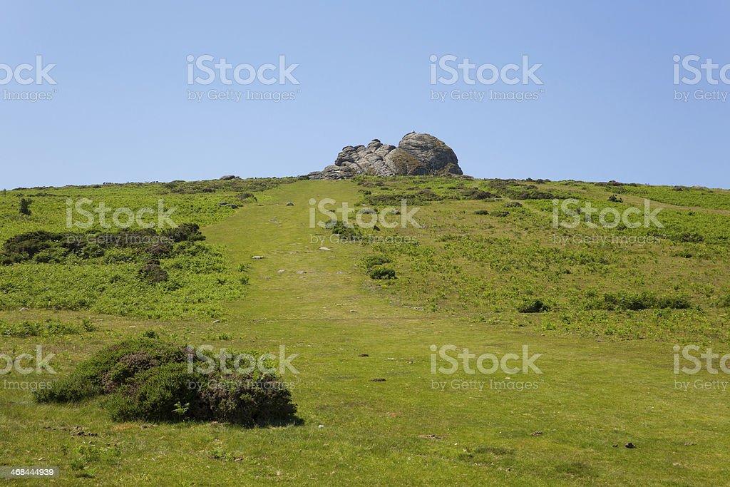 Haytor hill Dartmoor National Park Devon England UK stock photo