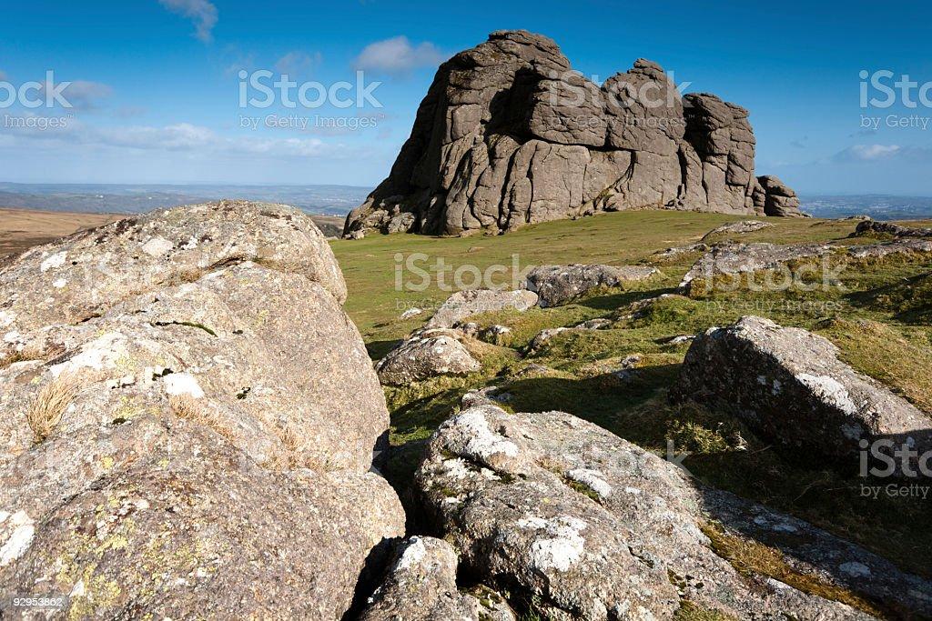 Haytor on Dartmoor stock photo