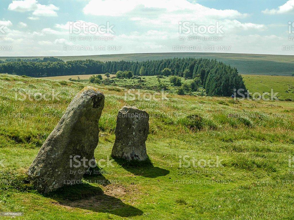 Haytor Rock Formation, Haytor Vale, Devon stock photo