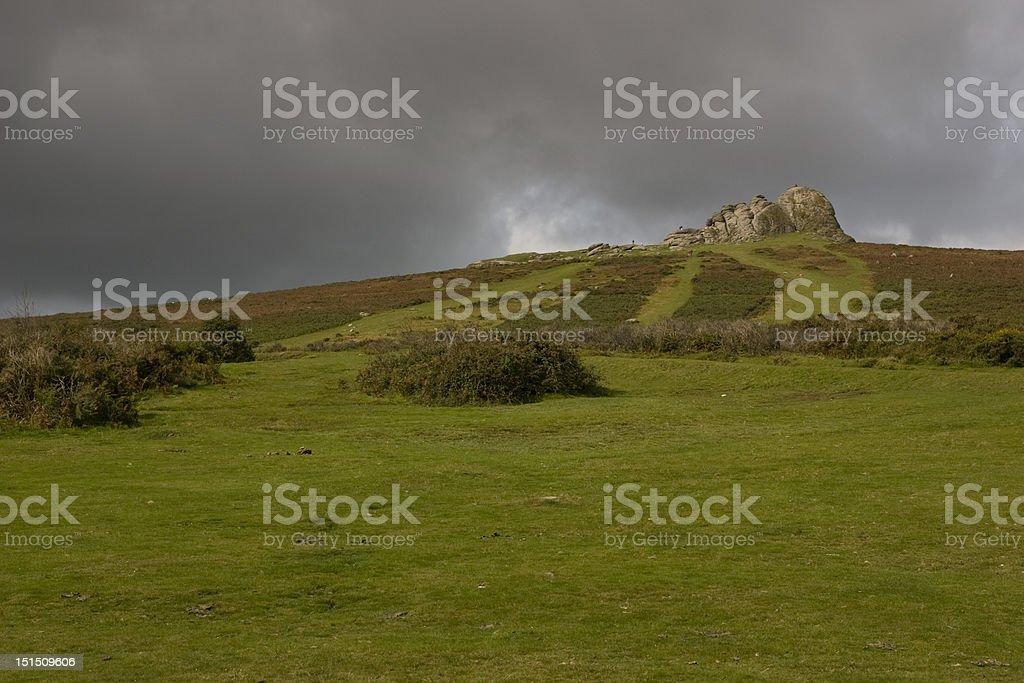 Haytor Rock in Dartmoor National park stock photo