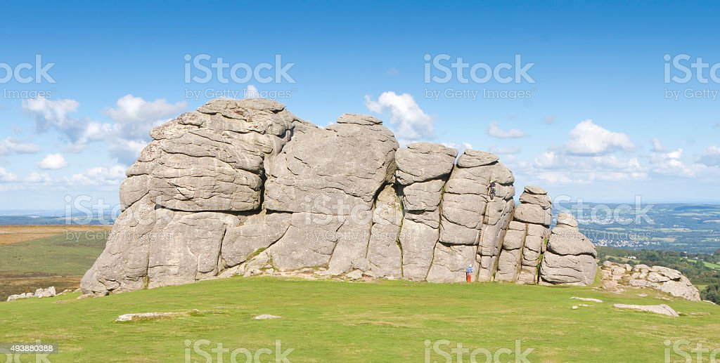 Haytor Rock. stock photo