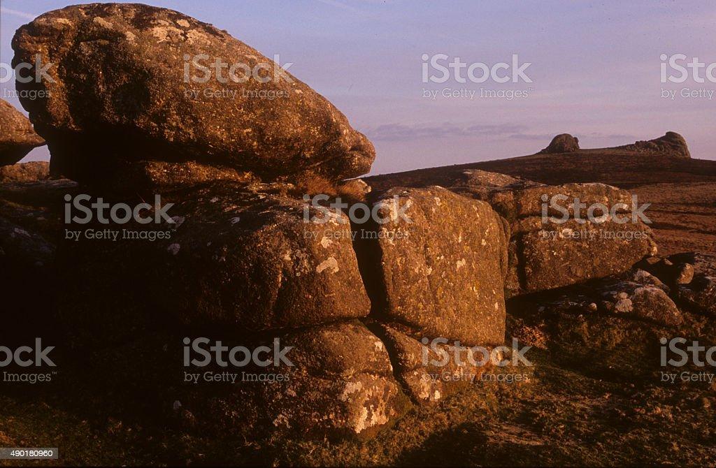 Haytor Rocks Dartmoor stock photo