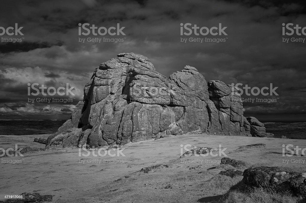 Haytor Rocks In Dartmoor, Devon stock photo