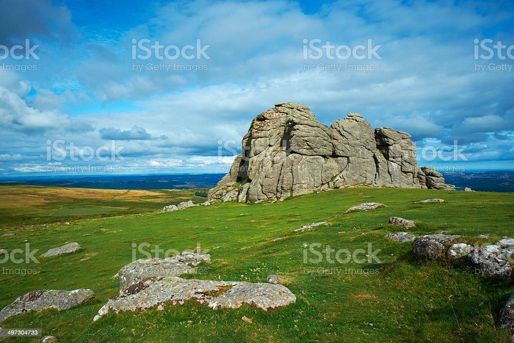 Haytor Rocks On Dartmoor, Devon stock photo