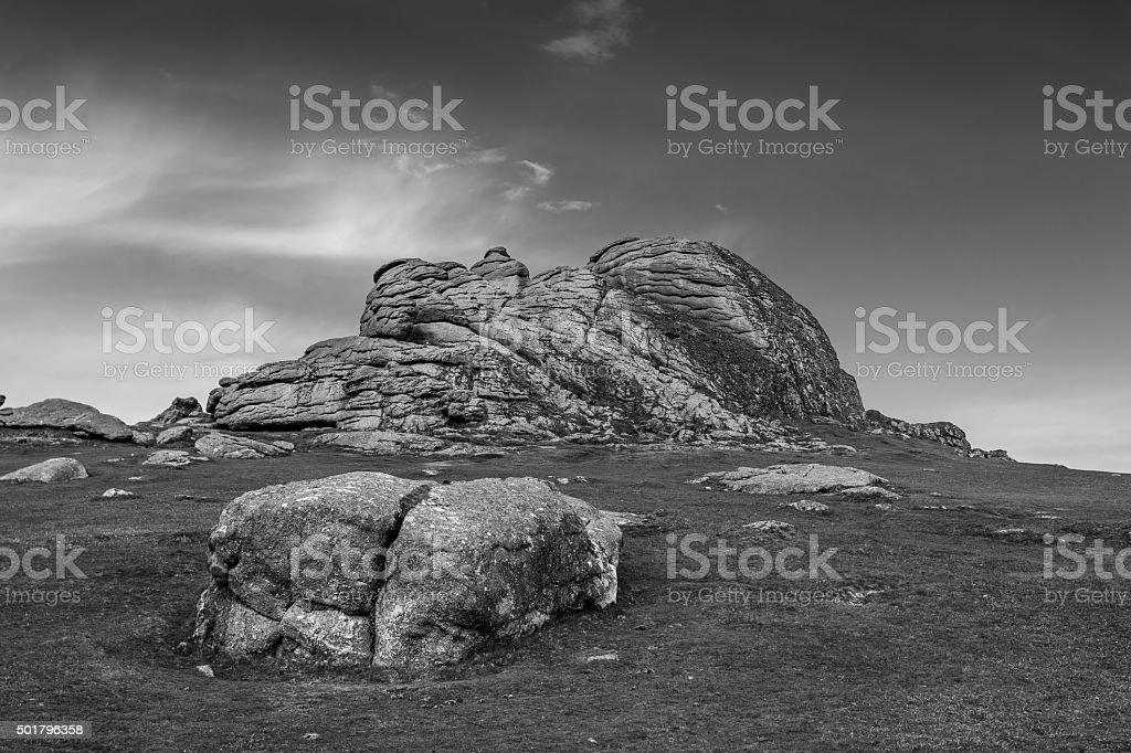 Haytor Rocks stock photo