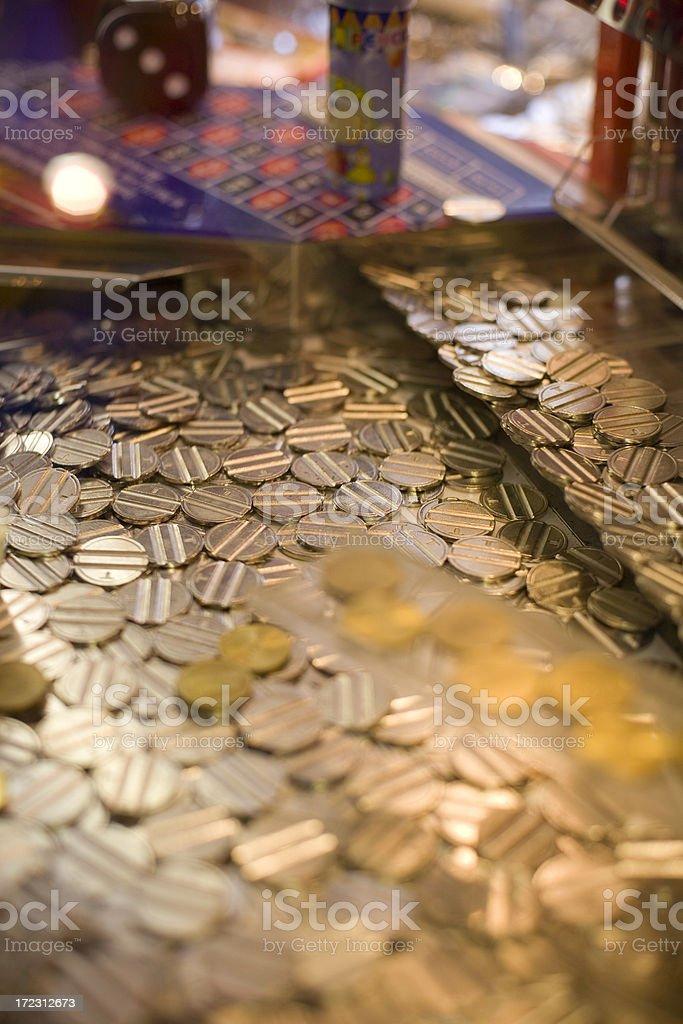 Hazard coins stock photo