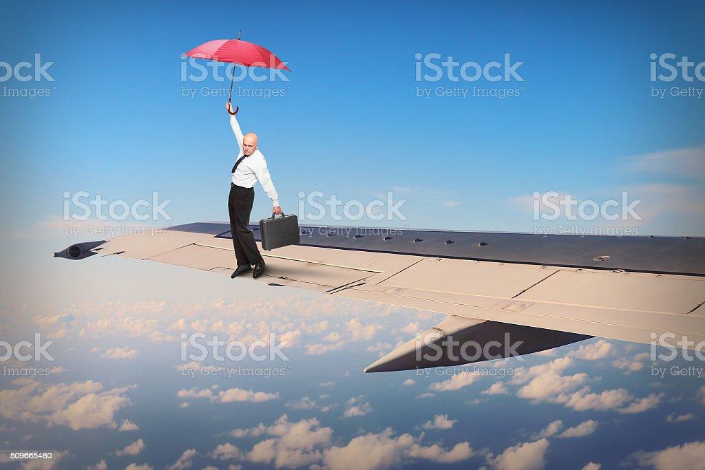 Hazard on the wing. stock photo