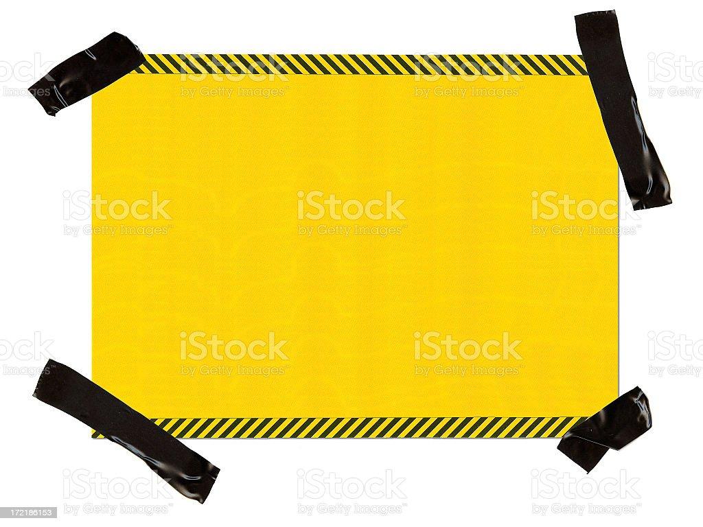 Hazard Paper Interface 100% View stock photo