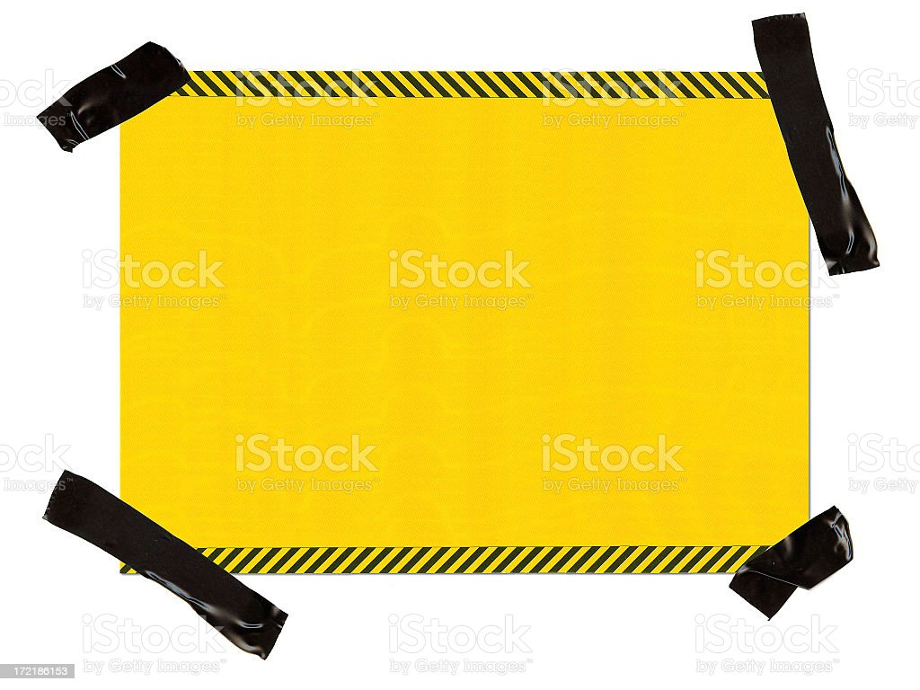 Hazard Paper Interface 100% View stock photo