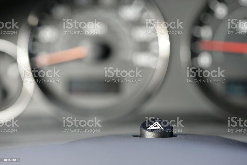 Hazard Signal Button stock photo