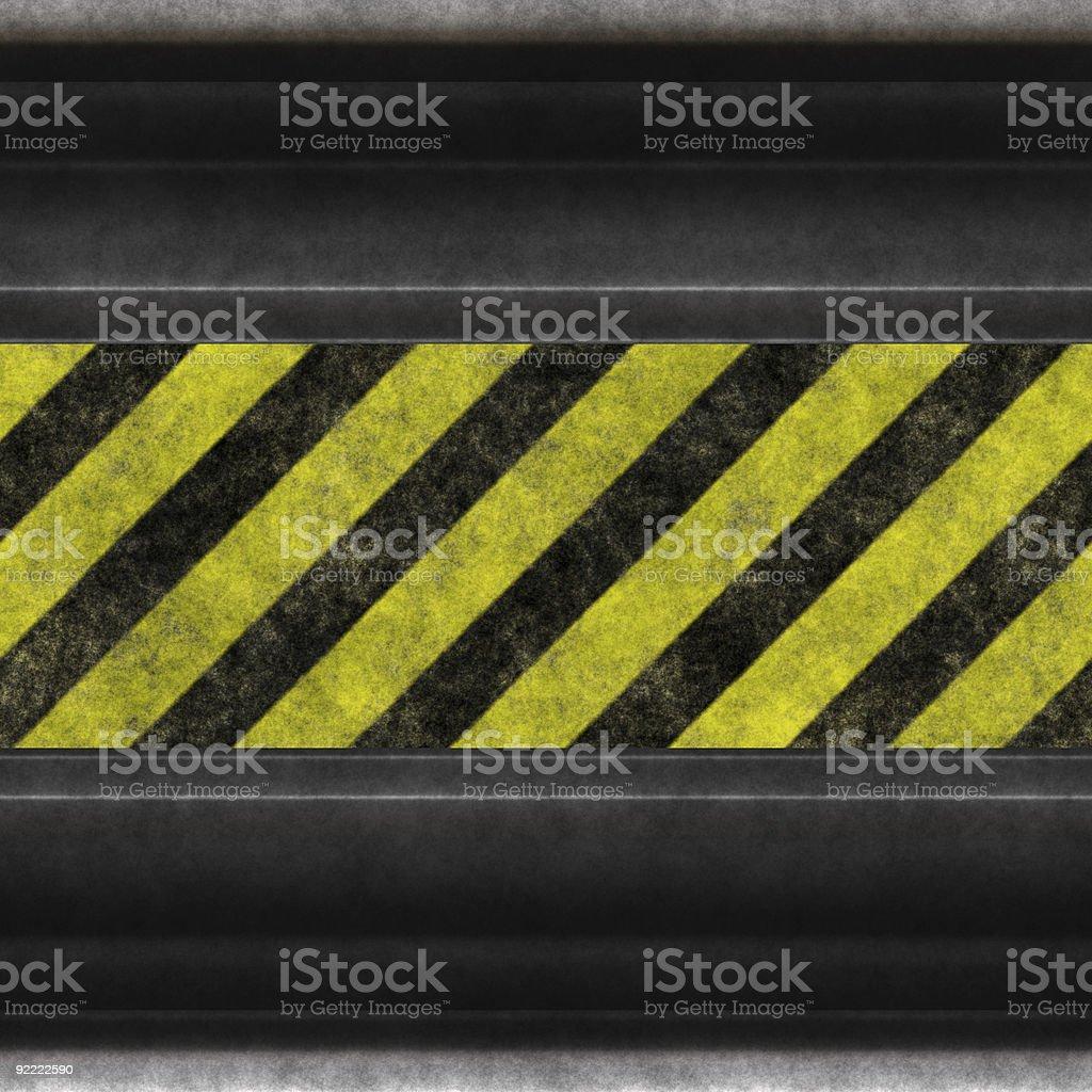 hazard stripes steel royalty-free stock photo