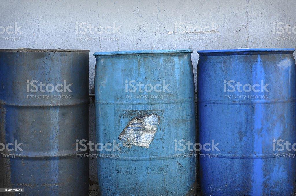 Hazardous and Toxic Waste Barrels royalty-free stock photo