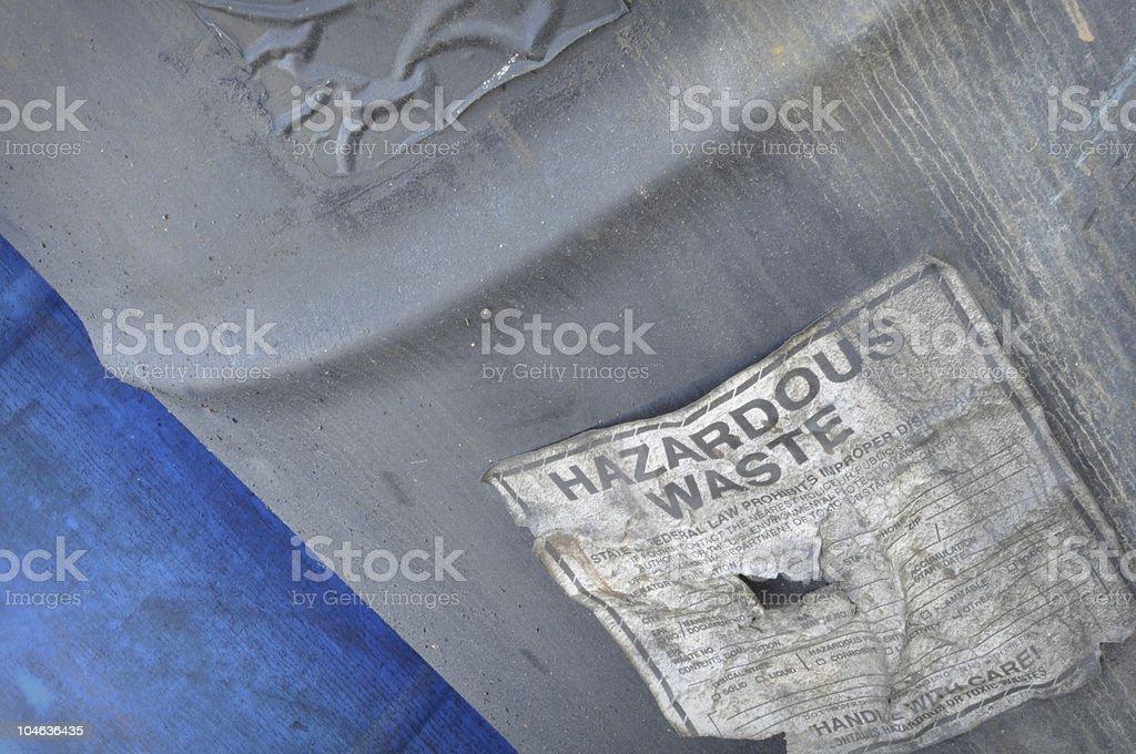 Hazardous and Toxic Waste Barrels stock photo