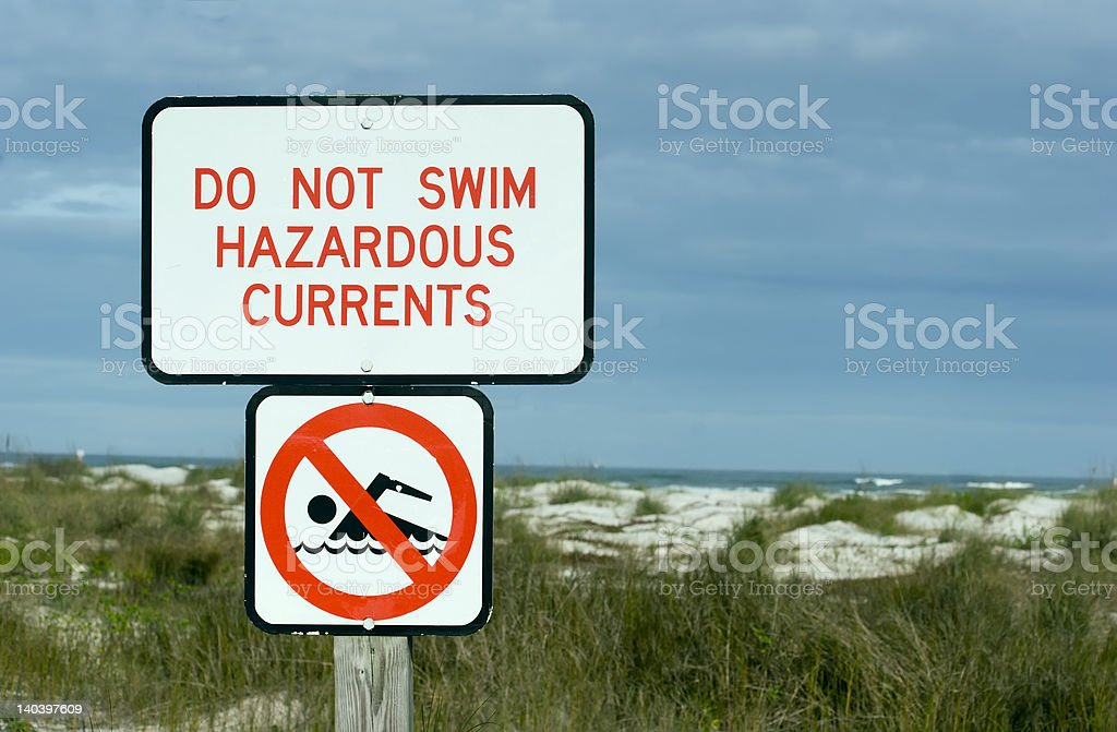 Hazardous Currents stock photo