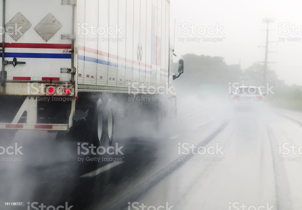 Hazardous Driving royalty-free stock photo