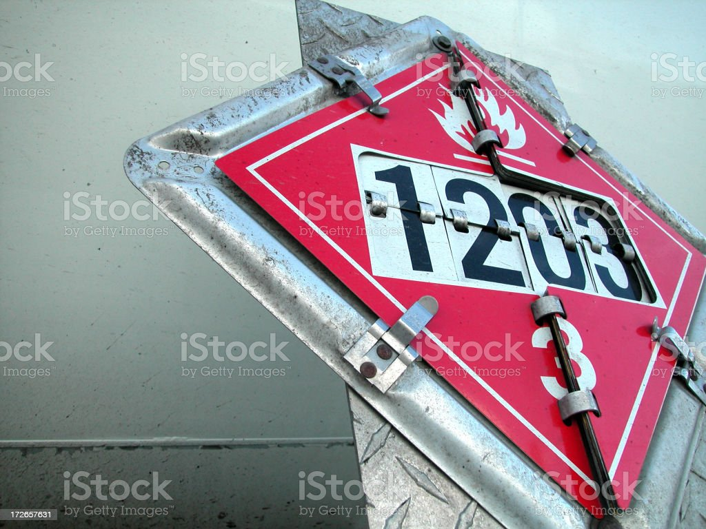 Hazardous Material truck sign royalty-free stock photo