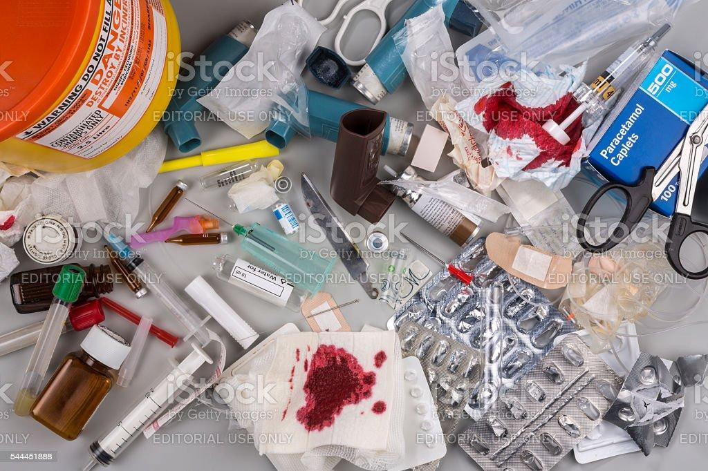 Hazardous Medical Waste stock photo