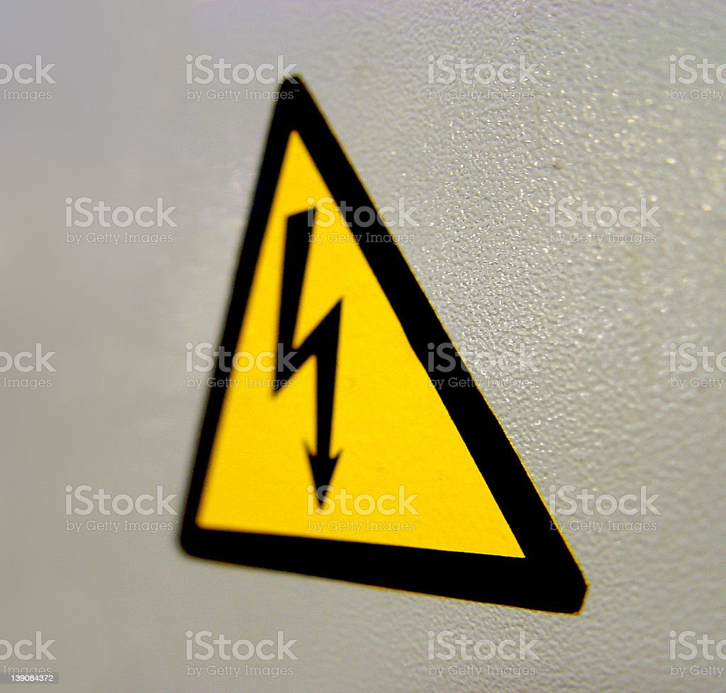 Hazardous Sign royalty-free stock photo