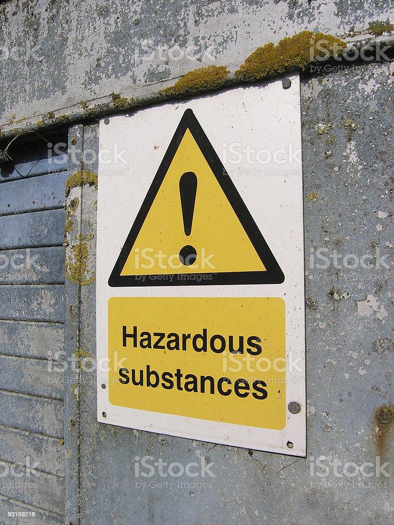 Hazardous Substances Warning Sign stock photo