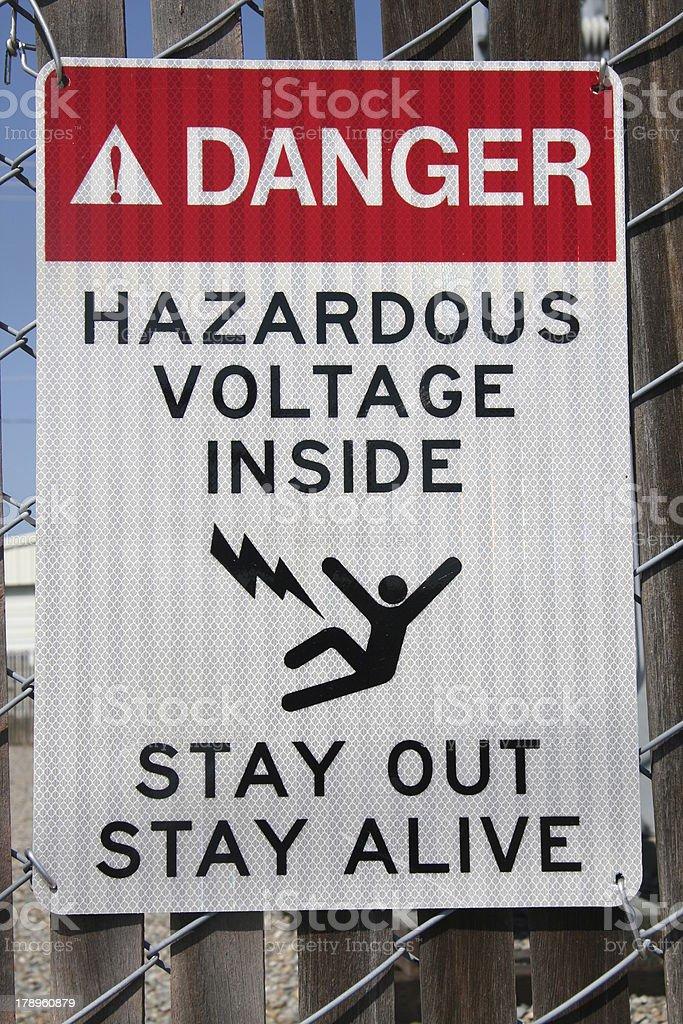 Hazardous voltage sign royalty-free stock photo