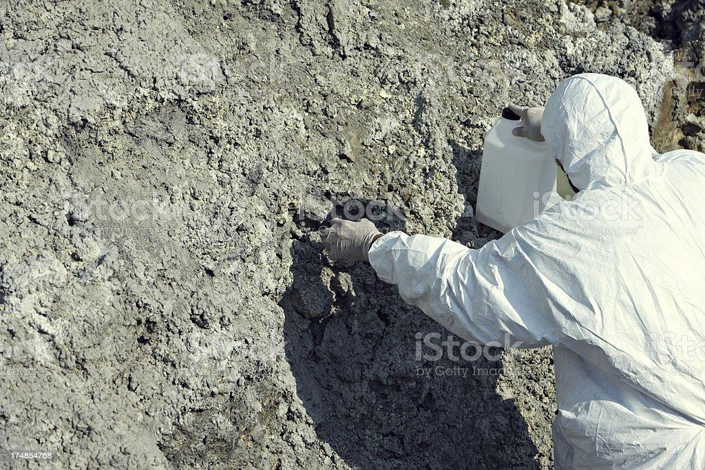 Hazardous worker royalty-free stock photo