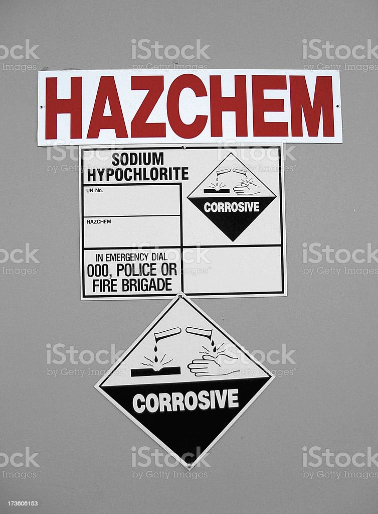 Hazchem stock photo