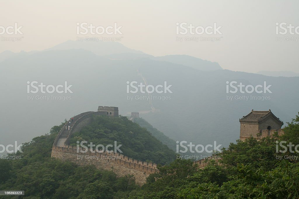 Haze day cover the Great Wall royalty-free stock photo
