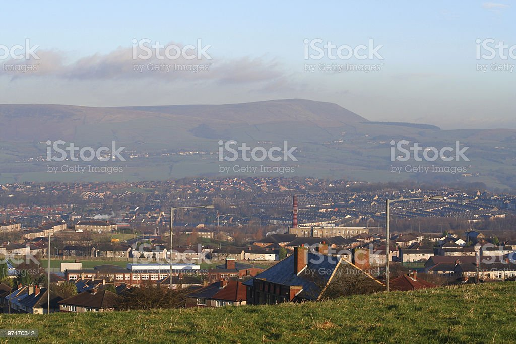Haze over Pendle. royalty-free stock photo