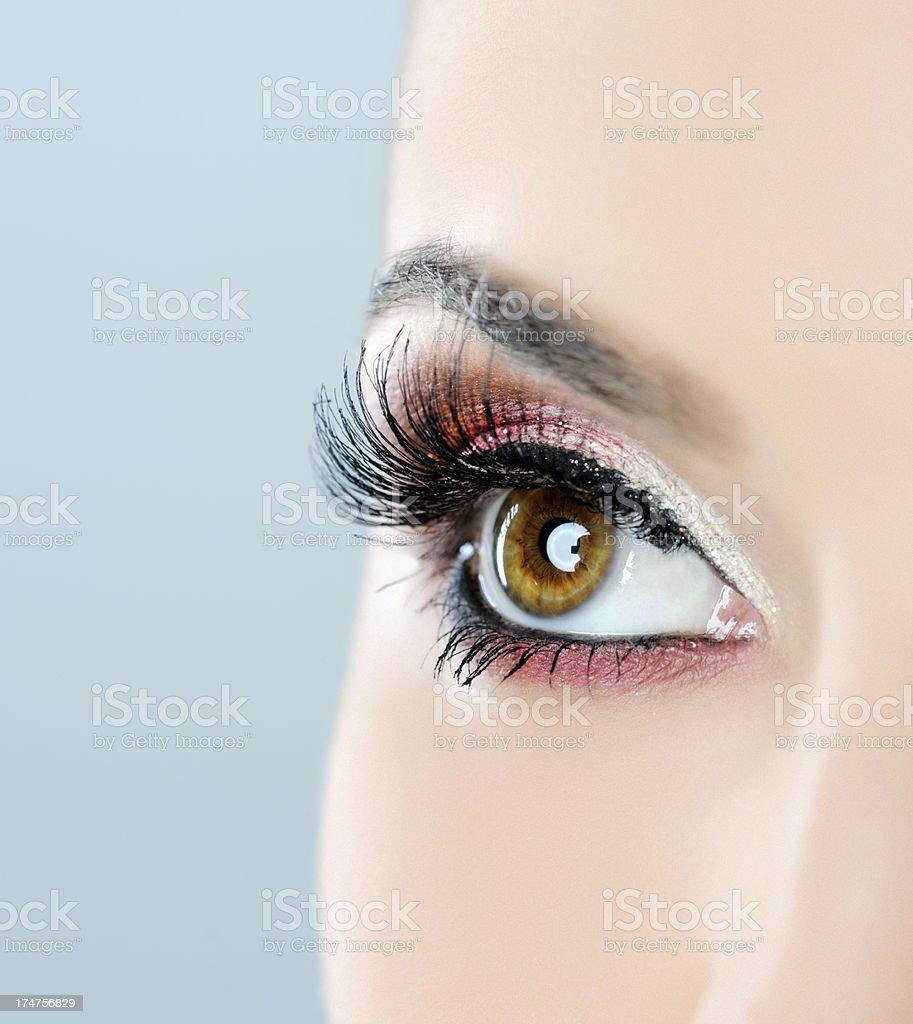 hazel eye makeup royalty-free stock photo