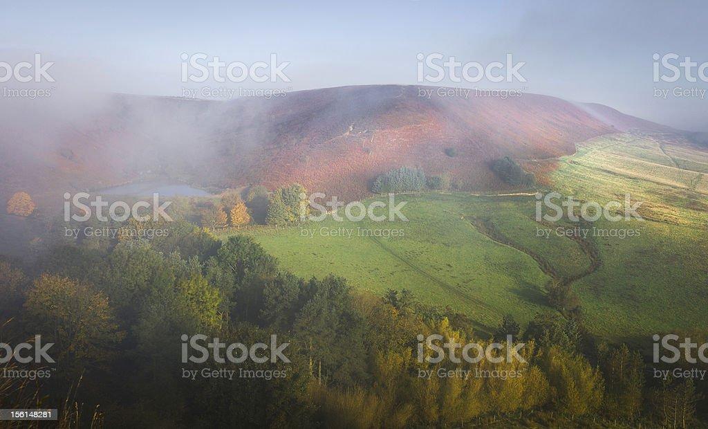 Hazelhead Moor and reservoir, Goathland, Yorkshire, UK. stock photo