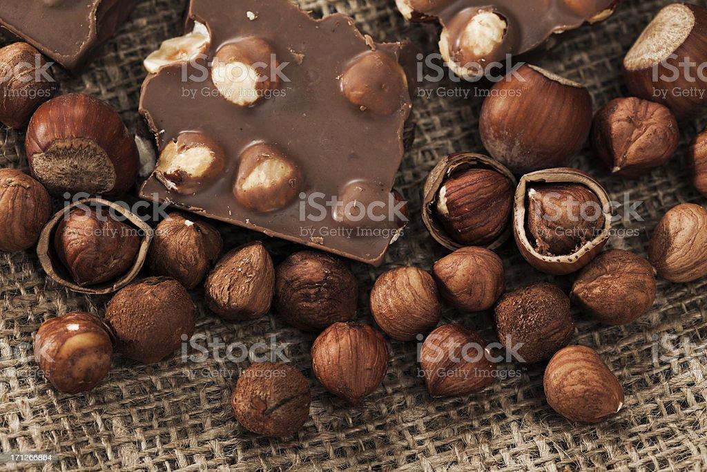 Hazelnut chocolate royalty-free stock photo