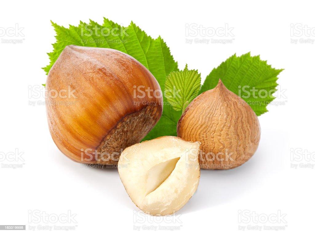 Hazelnut composition stock photo