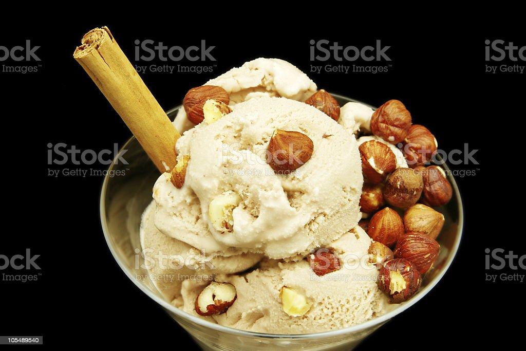 Hazelnut Icecream royalty-free stock photo