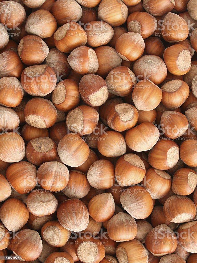 Hazelnuts background stock photo