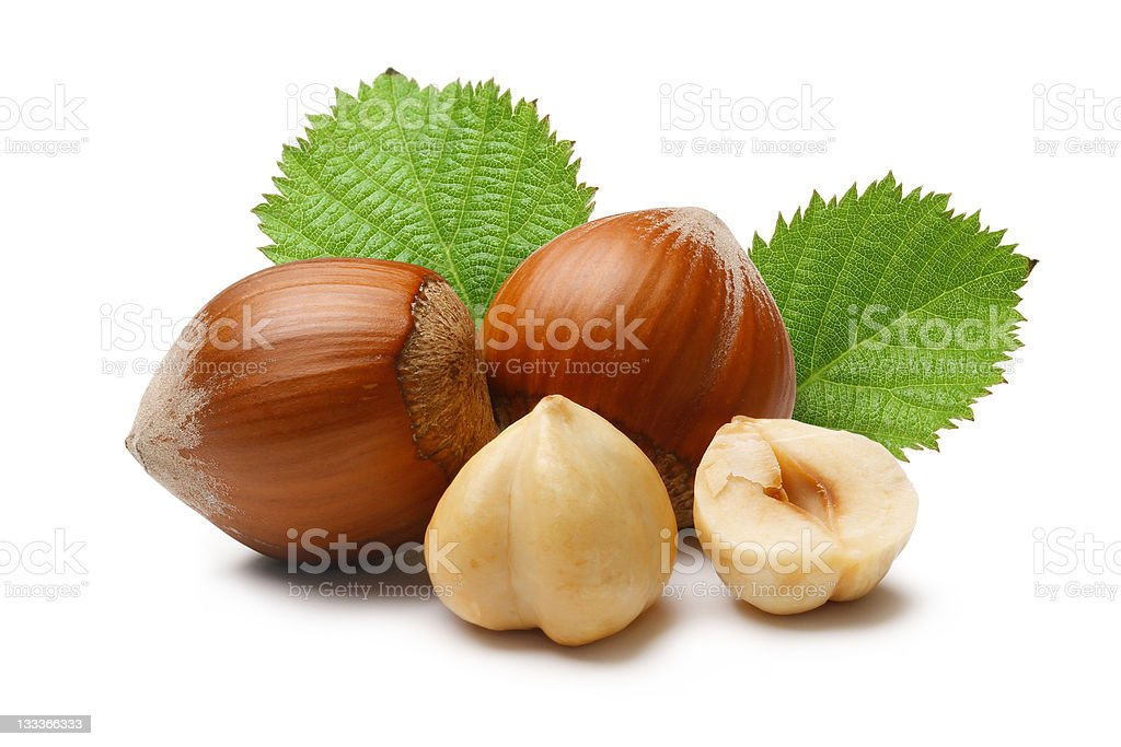 Hazelnuts Composition stock photo