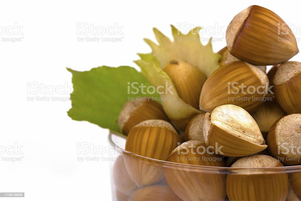 Hazelnuts Composition royalty-free stock photo