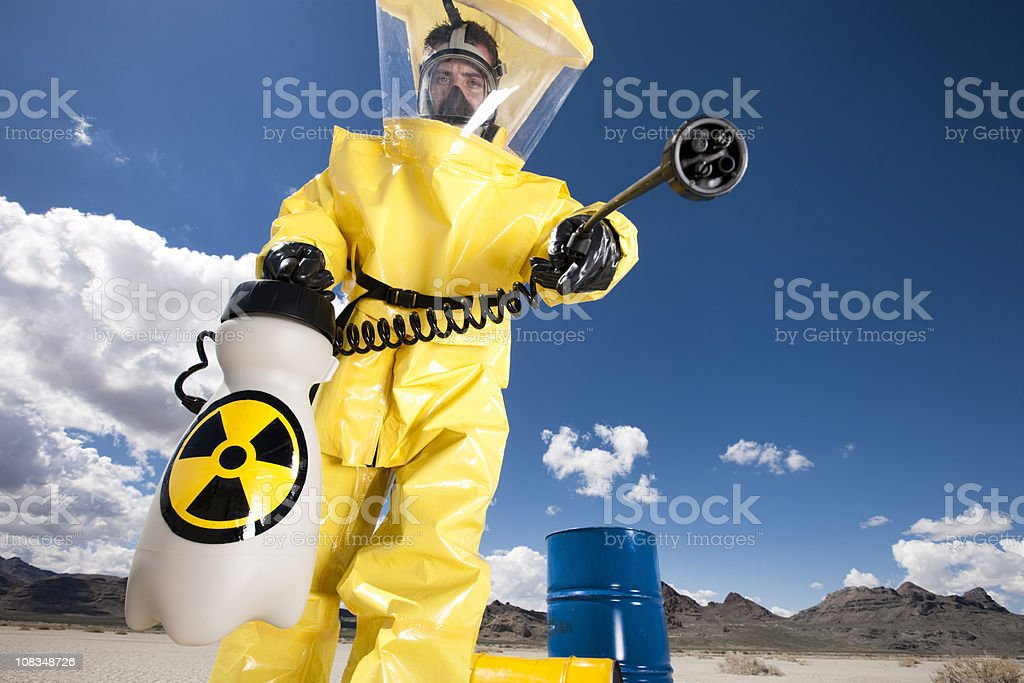 Hazmat Cleanup royalty-free stock photo