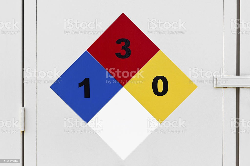 Hazmat Placard stock photo