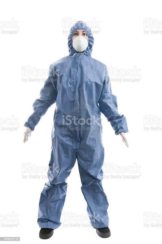 Hazmat Suit stock photo