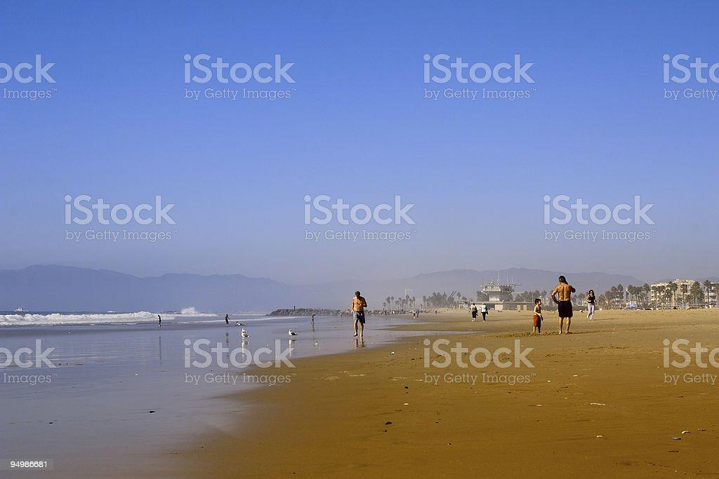 hazy beach royalty-free stock photo