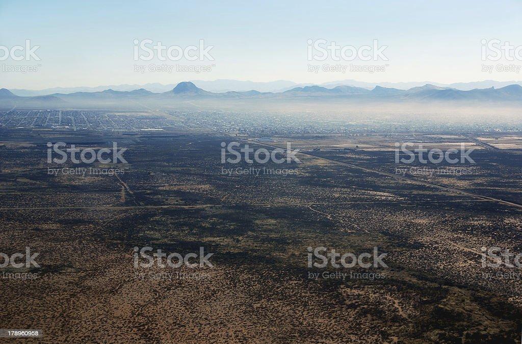 Hazy border town in Arizona royalty-free stock photo