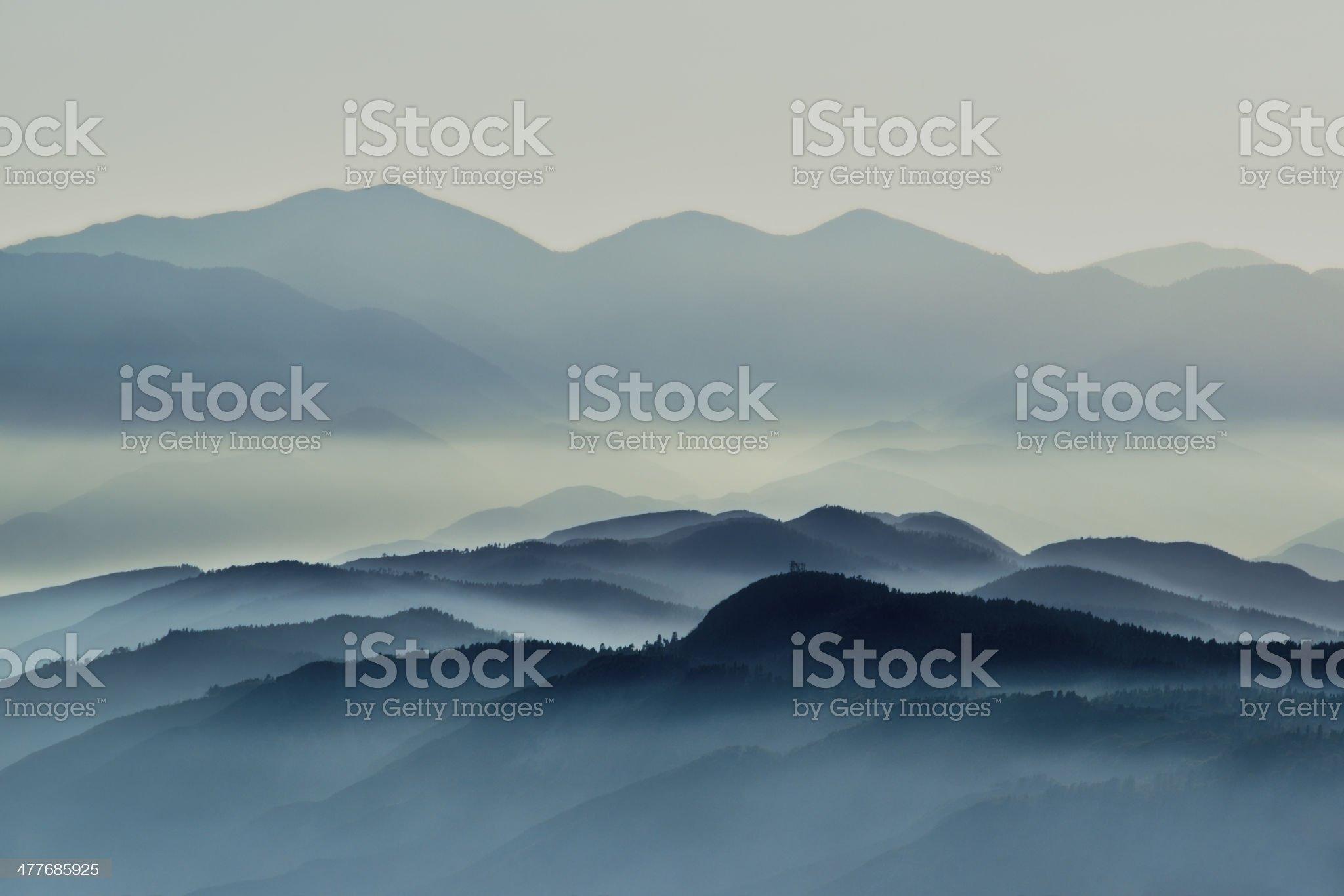 Hazy Hills royalty-free stock photo
