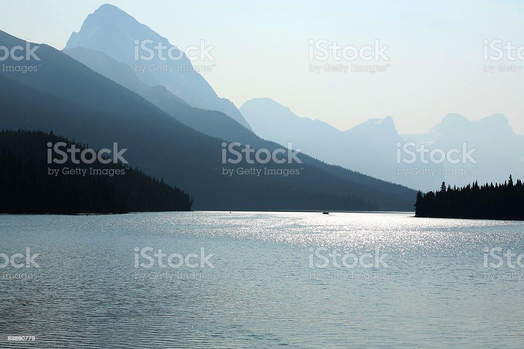 Hazy Maligne Landscape royalty-free stock photo